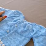 Robadan Badem Dilimli (badem şekerli) örgü bebek yeleği yapılışı