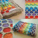 Bal Peteği Örgü Modeli Bebek Battaniyesi Yapılışı