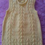 Sıralı Ajurlu Tepeler Şiş Örgü Modeli Bebek Elbisesi Yapılışı
