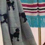 Tığ işi Köpek İşlemeli Battaniye Şablonlu