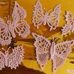 5 adet farklı Kelebek Dantel Modeli Örneği Şablonlu