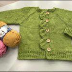 Düğme Yeri Yapraklı Bebek Hırkası Yapımı Anlatımı