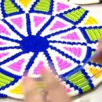 Yuvarlak tabanlı Wayuu Sırt Çantası Tabanı Yapılışı
