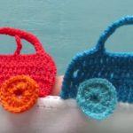 Araba Modeli Bebek Battaniyesi Kenarı Yapılışı