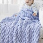 Şık şiş Örgü Bebek Battaniyesi Modelleri