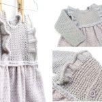 Kışlık Kumaşlı Örgü Bebek Elbisesi Yapımı Resimli Anlatımlı
