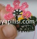 Çiçekli Tülbent Tığ Oyası Yapılışı
