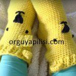Ayıcıklı Patik Çorap Tığ İle Yapımı