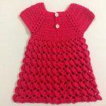 Tığ ile Yapılan Bebek Elbisesi Modelleri Anlatımlı
