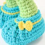 Amigurumi Patik Giyinmiş Bebek Ayak Yapılışı