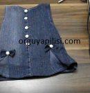 Eski Kot Pantolondan Bebek Elbisesi Yapılışı