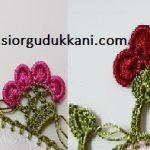 4 Fıstıklı Sepet ya da 3 Fıstıklı Çiçek Modeli Seçenekli Oya Yapılışı