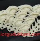 Kabartmalı Deniz Kabuğu Üçgen Şal Modeli Yapımı
